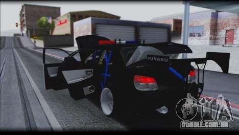 Subaru Impreza WRX STi Police Drift para vista lateral GTA San Andreas