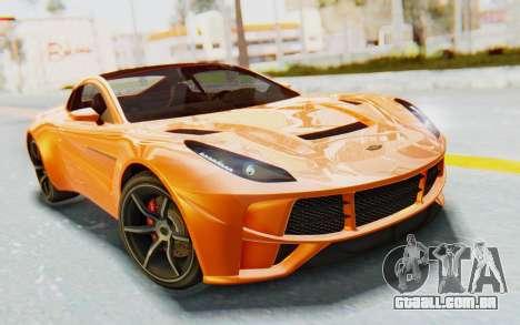 GTA 5 Dewbauchee Seven 70 IVF para GTA San Andreas vista traseira