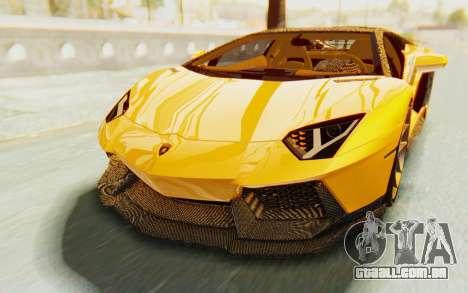 Lamborghini Aventador LP700-4 DMC para GTA San Andreas vista superior