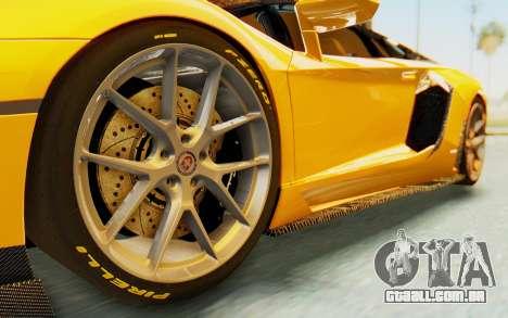 Lamborghini Aventador LP700-4 DMC para GTA San Andreas vista traseira