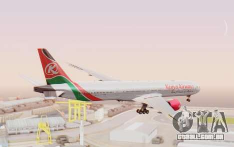 Boeing 777-300ER Kenya Airways para GTA San Andreas esquerda vista