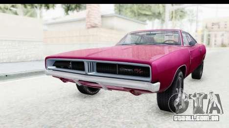 Dodge Charger 1969 Racing para GTA San Andreas traseira esquerda vista