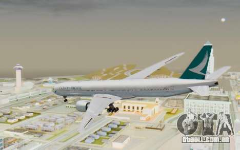 Boeing 777-300ER Cathay Pacific Airways v3 para GTA San Andreas esquerda vista