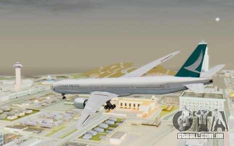 Boeing 777-300ER Cathay Pacific Airways v3 para GTA San Andreas esquerda vista