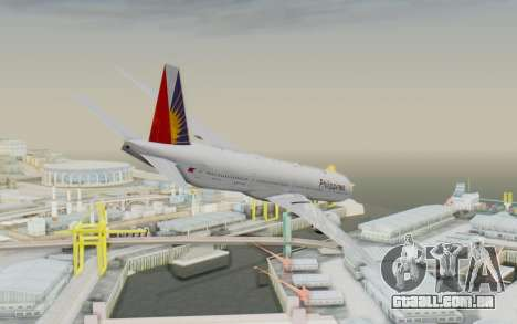 Boeing 777-300ER Philippine Airlines para GTA San Andreas esquerda vista