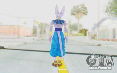 Dragon Ball Xenoverse Beerus para GTA San Andreas terceira tela