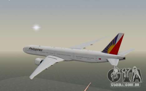 Boeing 777-300ER Philippine Airlines para GTA San Andreas vista direita
