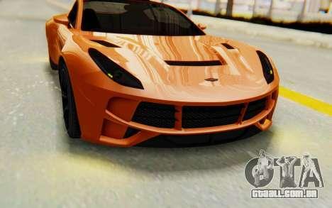 GTA 5 Dewbauchee Seven 70 IVF para GTA San Andreas vista interior