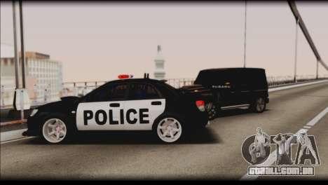 Subaru Impreza WRX STi Police Drift para GTA San Andreas vista inferior
