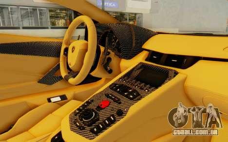 Lamborghini Aventador LP700-4 DMC para GTA San Andreas vista interior