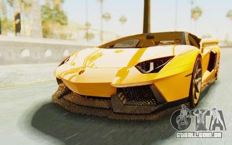 Lamborghini Aventador LP700-4 DMC para GTA San Andreas vista direita