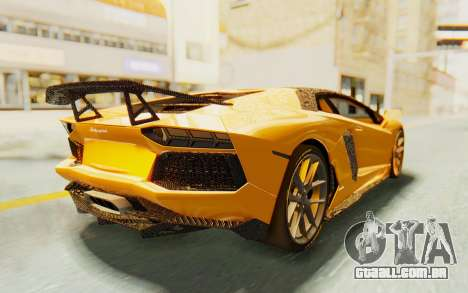 Lamborghini Aventador LP700-4 DMC para GTA San Andreas esquerda vista
