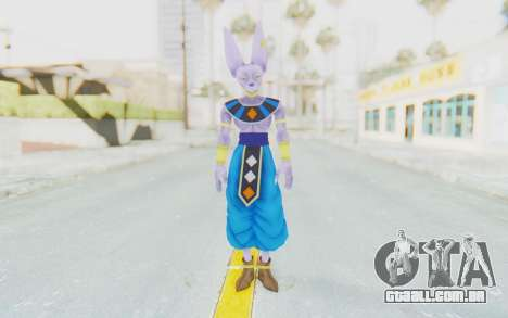 Dragon Ball Xenoverse Beerus para GTA San Andreas segunda tela