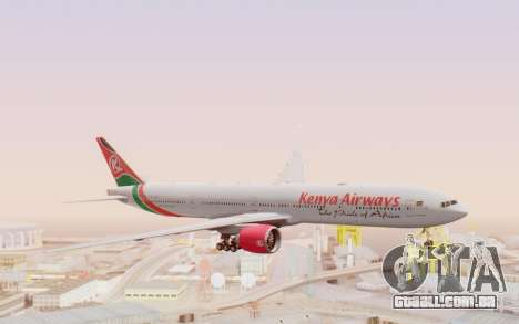 Boeing 777-300ER Kenya Airways para GTA San Andreas