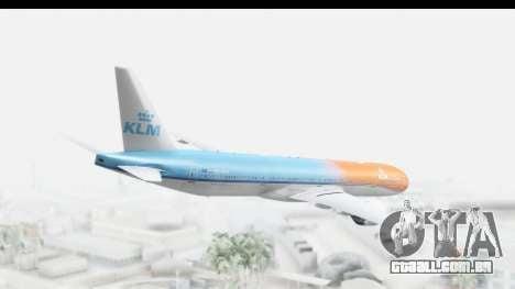 Boeing 777-300ER KLM Orange Pride para GTA San Andreas esquerda vista