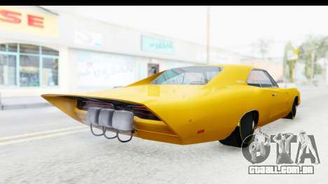 Dodge Charger 1969 Max Speed para GTA San Andreas traseira esquerda vista