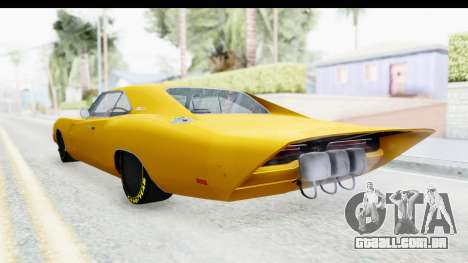Dodge Charger 1969 Max Speed para GTA San Andreas esquerda vista