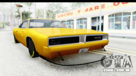 Dodge Charger 1969 Max Speed para GTA San Andreas vista direita