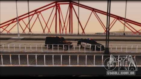 Subaru Impreza WRX STi Police Drift para GTA San Andreas vista superior