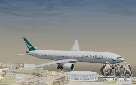 Boeing 777-300ER Cathay Pacific Airways v3 para GTA San Andreas traseira esquerda vista