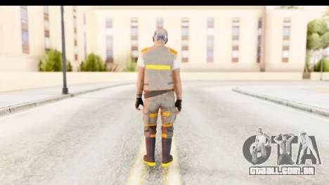 COD AW - John Malkovich Janitor para GTA San Andreas terceira tela