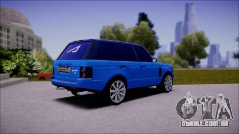 Land Rover Range Rover III (Pontorezka) para GTA San Andreas traseira esquerda vista