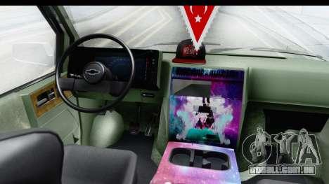 Chevrolet Astro Stance para GTA San Andreas vista traseira