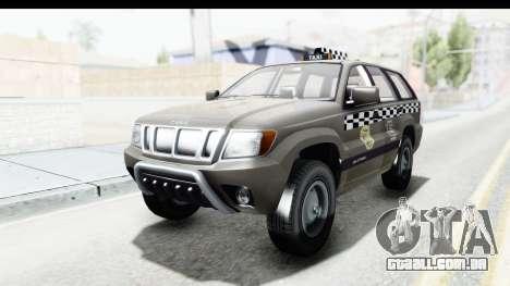 GTA 5 Canis Seminole Taxi Saints Row 4 Retro para GTA San Andreas traseira esquerda vista