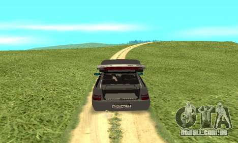VAZ 2112 para GTA San Andreas vista traseira