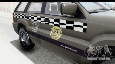 GTA 5 Canis Seminole Taxi Saints Row 4 Retro para GTA San Andreas vista interior