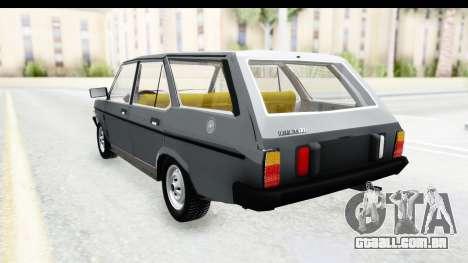Fiat 131 Panorama para GTA San Andreas traseira esquerda vista