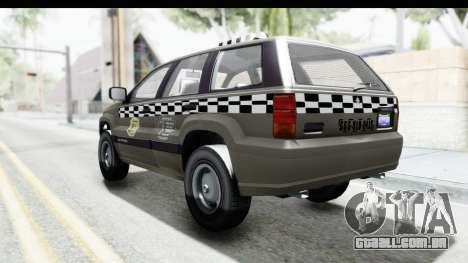 GTA 5 Canis Seminole Taxi Saints Row 4 Retro para GTA San Andreas esquerda vista