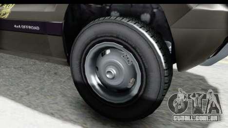 GTA 5 Canis Seminole Taxi Saints Row 4 Retro para GTA San Andreas vista traseira