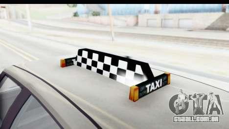 GTA 5 Canis Seminole Taxi Saints Row 4 Retro para vista lateral GTA San Andreas