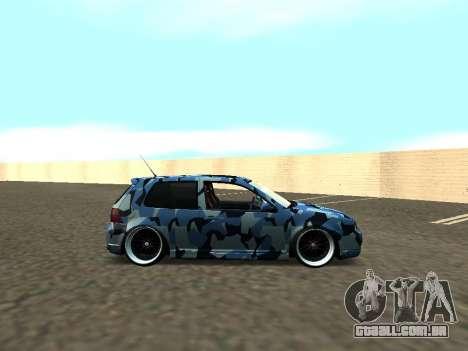 Volkswagen Golf MK4 R32 Postura para GTA San Andreas vista direita