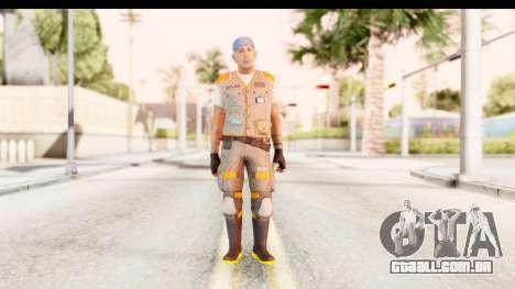 COD AW - John Malkovich Janitor para GTA San Andreas segunda tela