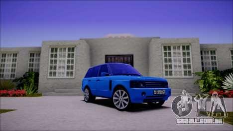 Land Rover Range Rover III (Pontorezka) para GTA San Andreas esquerda vista