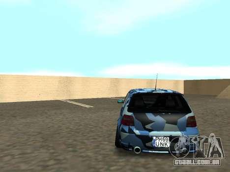 Volkswagen Golf MK4 R32 Postura para GTA San Andreas vista interior