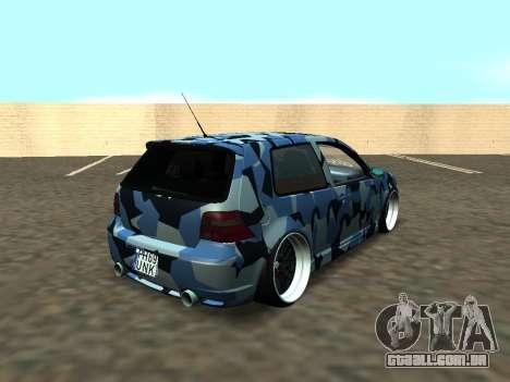 Volkswagen Golf MK4 R32 Postura para vista lateral GTA San Andreas
