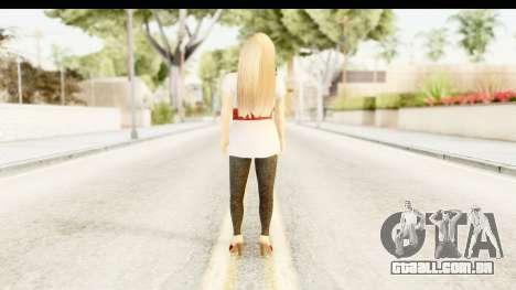 Adele para GTA San Andreas terceira tela