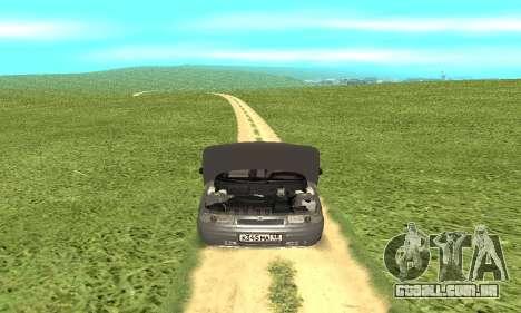 VAZ 2112 para GTA San Andreas vista interior