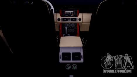 Land Rover Range Rover III (Pontorezka) para GTA San Andreas vista interior