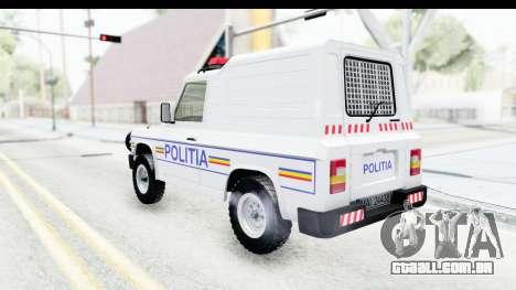 Aro 243 1996 Police para GTA San Andreas esquerda vista