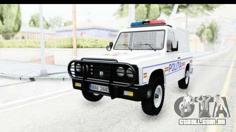 Aro 243 1996 Police para GTA San Andreas traseira esquerda vista