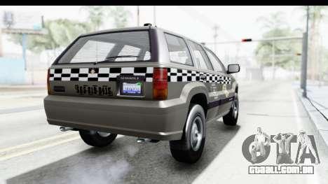GTA 5 Canis Seminole Taxi Saints Row 4 Retro para GTA San Andreas vista direita