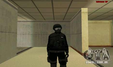 Pele FIB SWAT de GTA 5 para GTA San Andreas