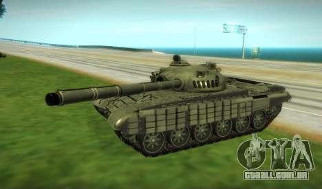 T-72 Modificado para GTA San Andreas esquerda vista