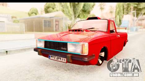 Peykan Pickup Full Sport Iranian para GTA San Andreas traseira esquerda vista