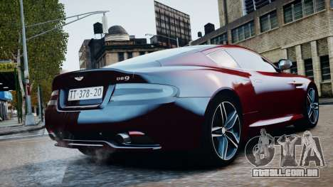 Aston Martin DB9 2013 para GTA 4 vista direita