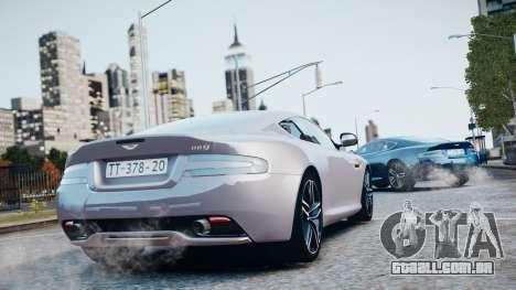 Aston Martin DB9 2013 para GTA 4 vista inferior